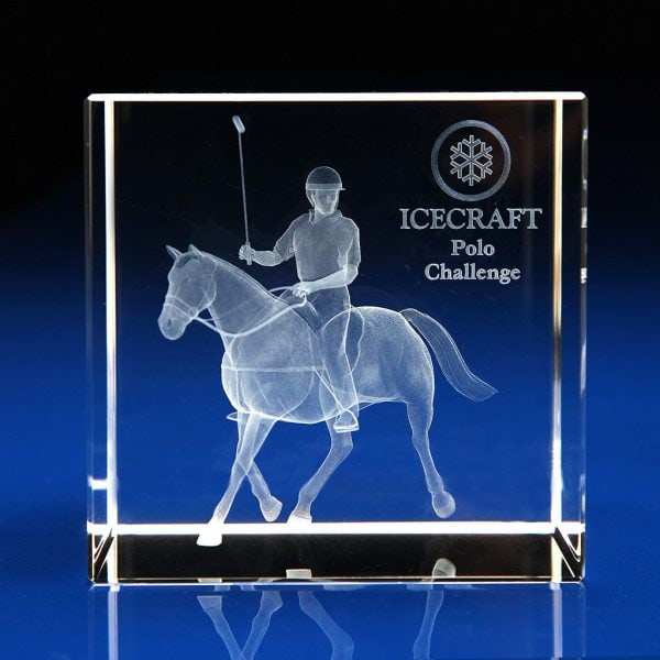 Crystal Cube Award, Equestrian Trophies, Equestrian awards, horse riding awards, horse riding trophies, Sports Awards, Sports Trophies, Glass trophies, Crystal trophies, Square trophy, square awards, 3D cube award