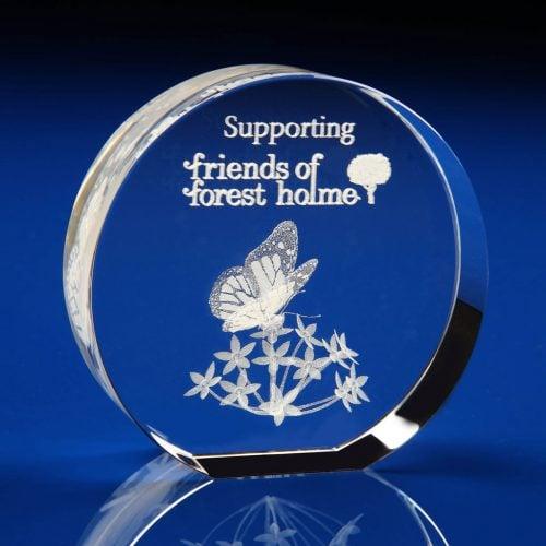 Disc Award - 3D crystal