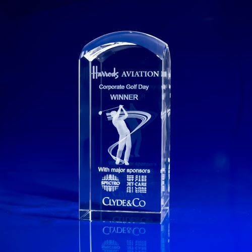 Dome Tower Crystal Award - Sports Trophies