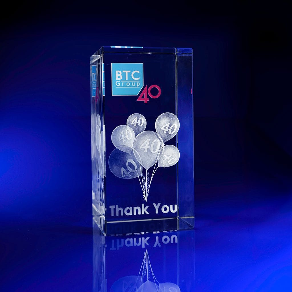 Full Colour Printed Paperweight - Comapny Anni