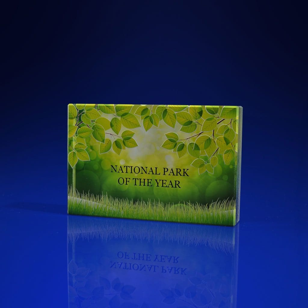 Full Colour Printed Paperweight - Plaque Shape