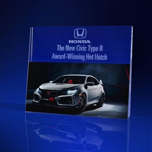 Full Colour Printed Paperweight - car - Tapere