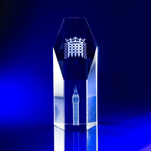 Hexagon Award - Crystal Big Ben