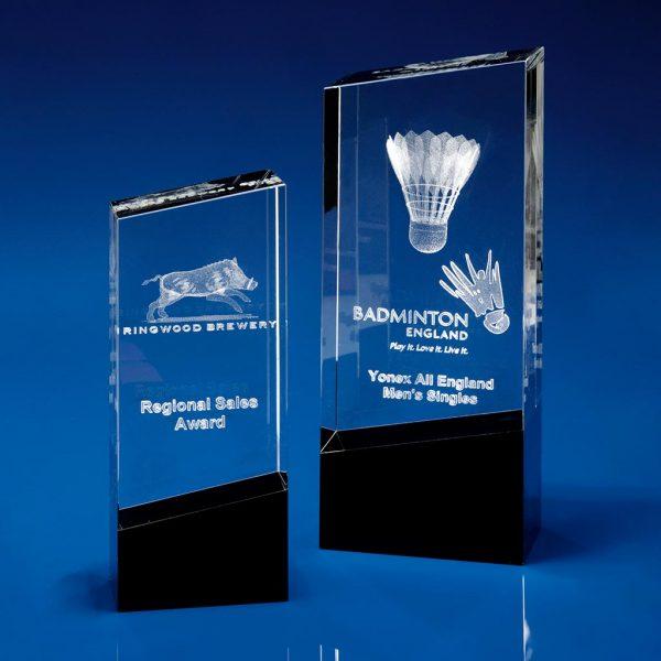 Monochrome, Crystal Glass, Glass Awards, 3D crystal art, 3D glass art,