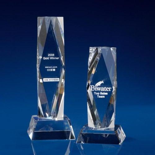 President Crystal Award - corporate trophies