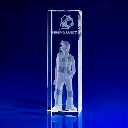 Rectangle Awards -Corporate Crystal Art