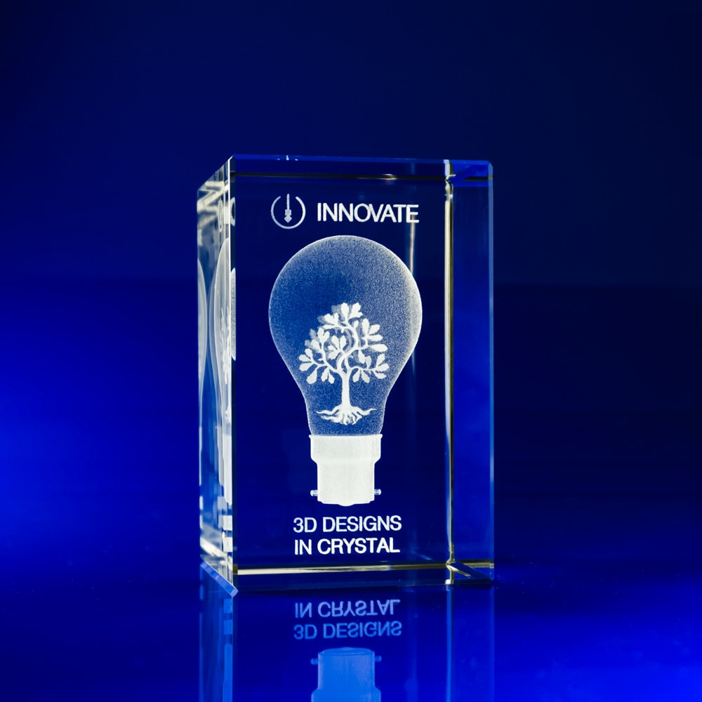 Rectangle Awards - 3D engraved, Bespoke Awards, Corporate awards, Corporate crystal Awards, corporate promotional gifts, crystal art glass, corporate recognition awards, business awards, glass awards, glass corporate awards