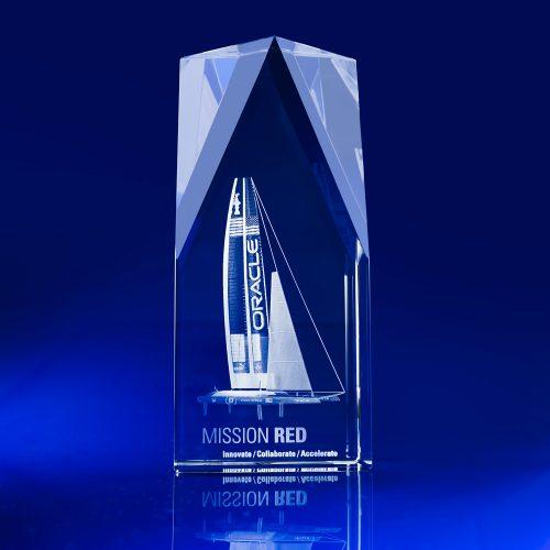 Steeple Award - 3D corporate Crystal art