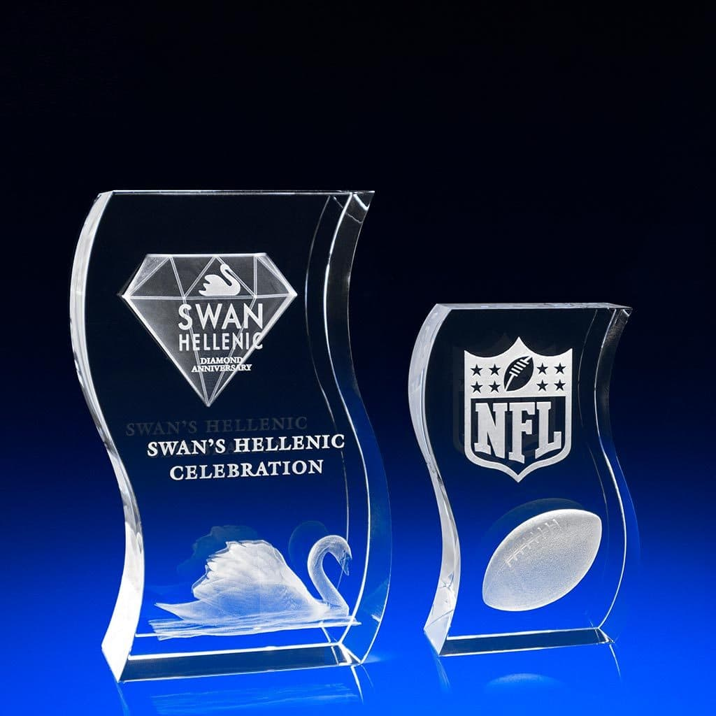Wave Award, Corporate Awards, Crystal Awards, recognition awards for employees, Engraved Awards