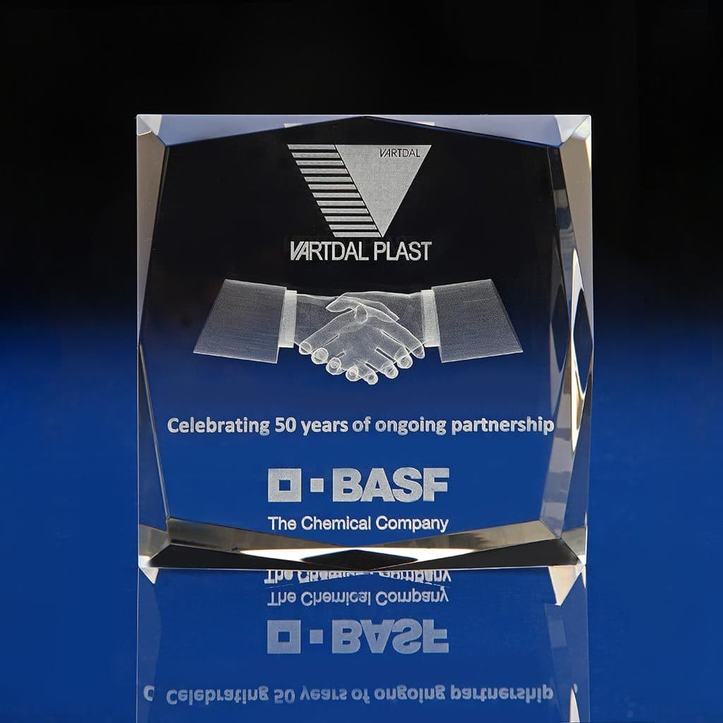 Facet Square Crystal Award