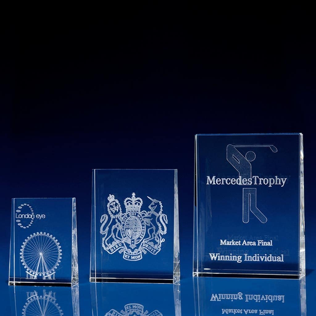 Tapered Portrait Crystal Award