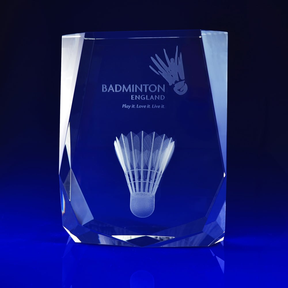 Chamonix Paperweight - Sports Gifts, Sporting events, Badminton events, sports tournaments, gifts, corporate paperweights, Corporate crystal paperweights, corporate promotional paperweights, crystal art glass, business paperweights, glass paperweights, glass engraved paperweights, engraved 3D gifts, glass paperweights, bespoke paperweights, business gifts, promotional gifts, promotional giveaways, Engraved Corporate Paperweights