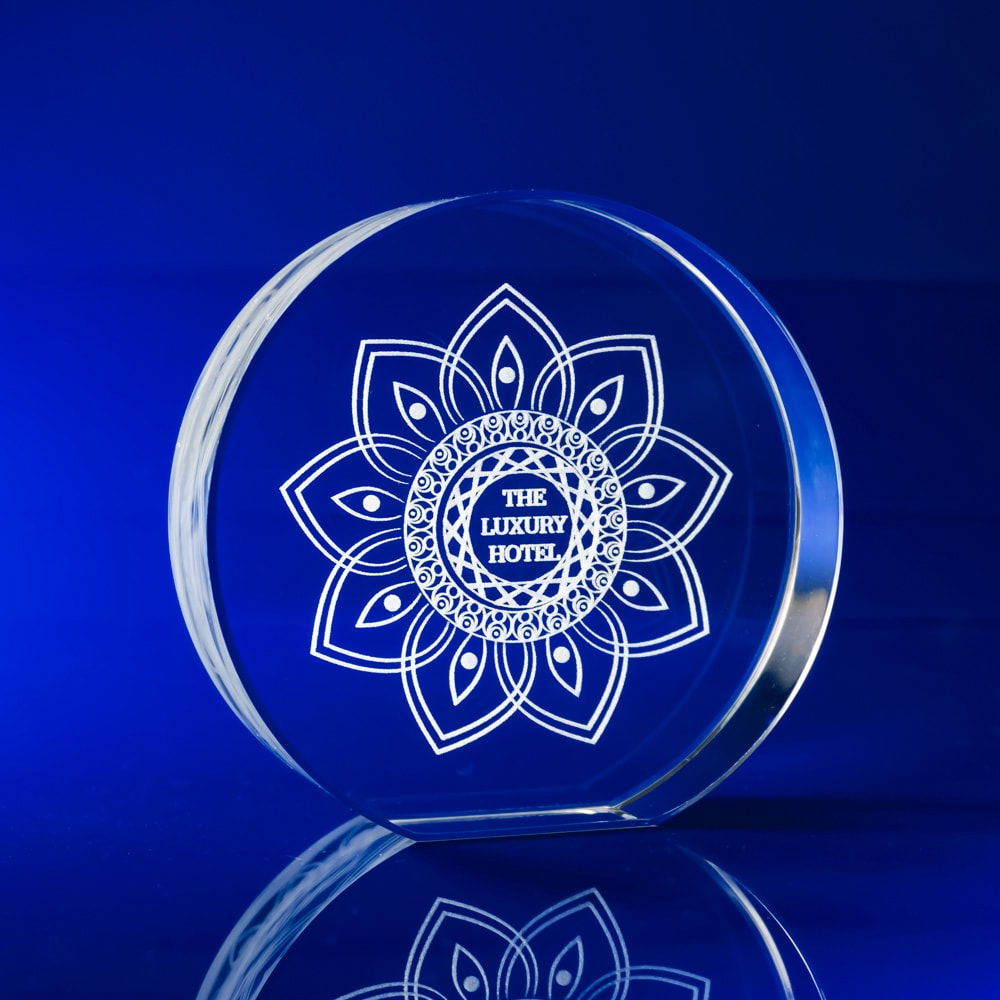 Crystal Disc Paperweight,orporate paperweights, Corporate crystal paperweights, corporate promotional paperweights, crystal art glass, business paperweights, glass paperweights, glass engraved paperweights, engraved 3D gifts, glass paperweights, bespoke paperweights, business gifts, promotional gifts, promotional giveaways, round paperweights, circular paperweights