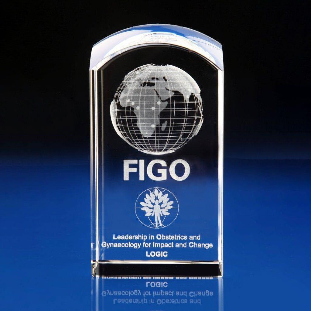 Dome Tower Globe award, engraved globe awards, crystal globe, crystal globe awards, crystal globe trophy, Globe paperweight engraved