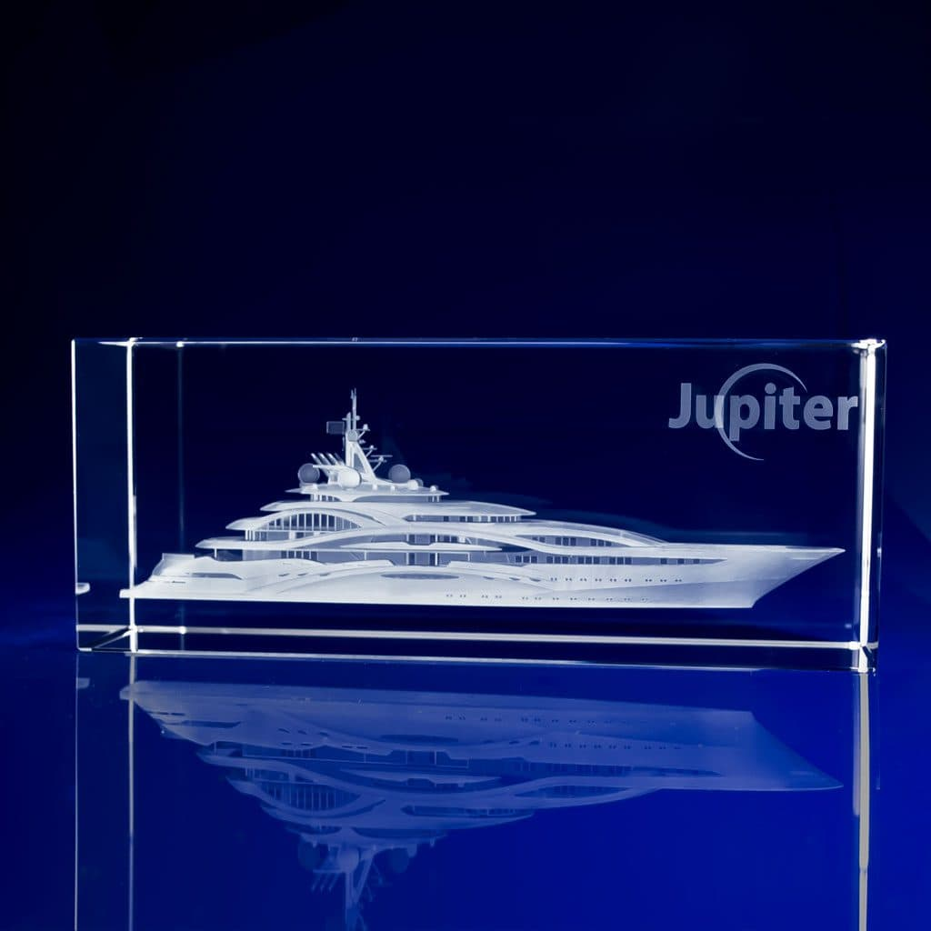 Rectangle Paperweight - Superyacht
