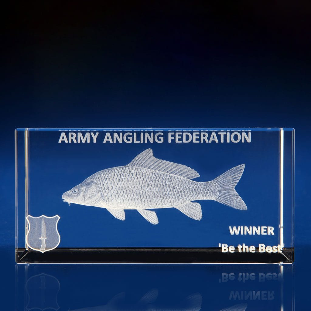 Rectangle Paperweight - fishing