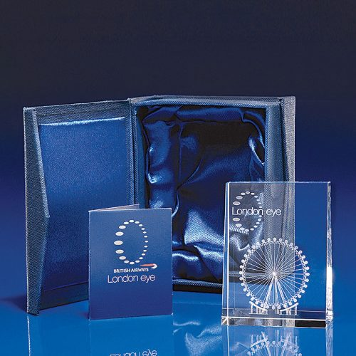 Tapered Portrait Crystal - Paperweight
