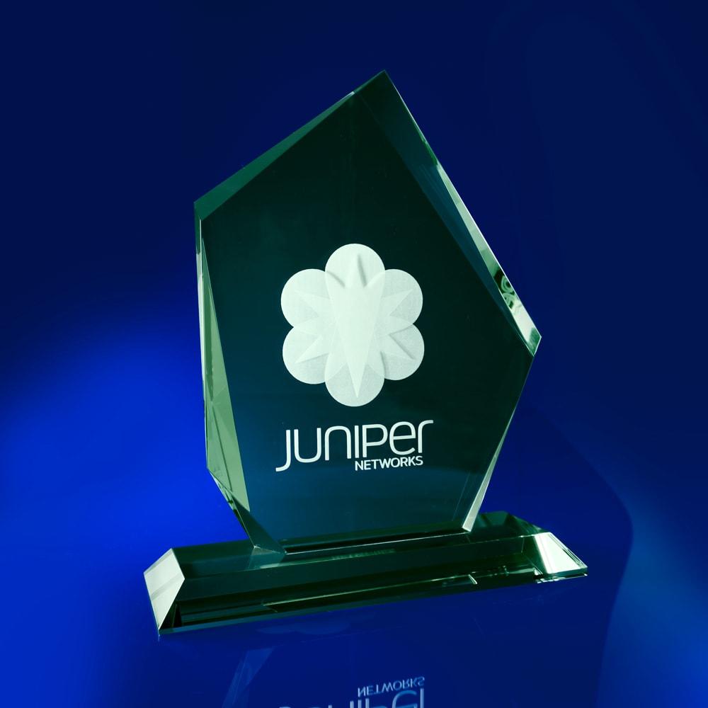 Arctic Jade Crystal Corporate Award, Corporate Star Awards, star awards, corporate awards, green awards, glass awards & trophies, colour awards