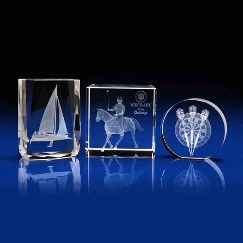Chamonix, Cube and Disc Crystal Awards