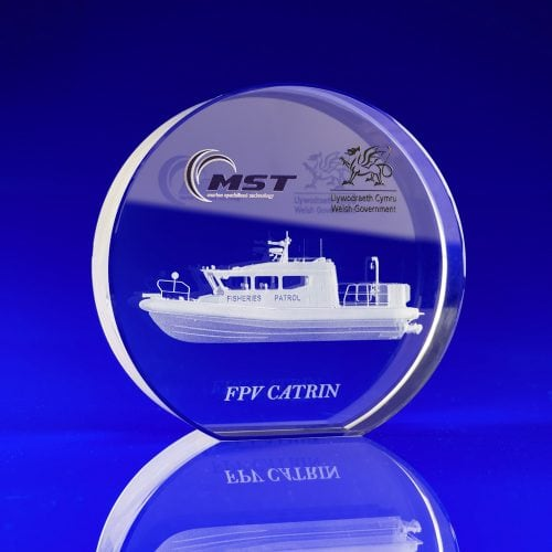 Crystal Disc Award Boat