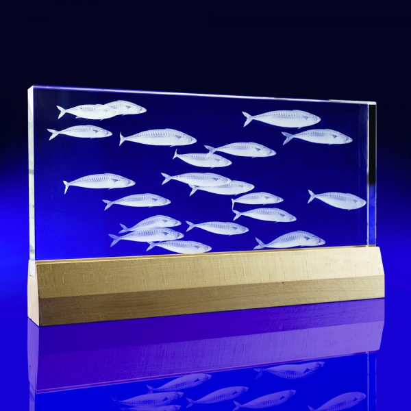 Bespoke Rectangle on Base, bespoke Crystal awards, crystal art, crystal installations, art installations, bespoke crystal art