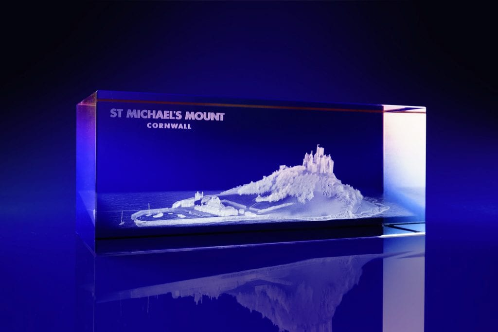 Rectangle - 3D laser engraved art, colour print, awards, paperweights, gifts, promotional gifts, crystal gifts, corporate crystal gifts, promotional giveaways,