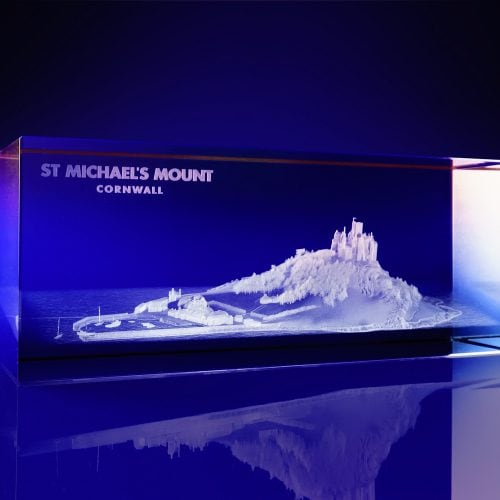 Colour print awards - Rectangle Crystal- St Michaels Mount