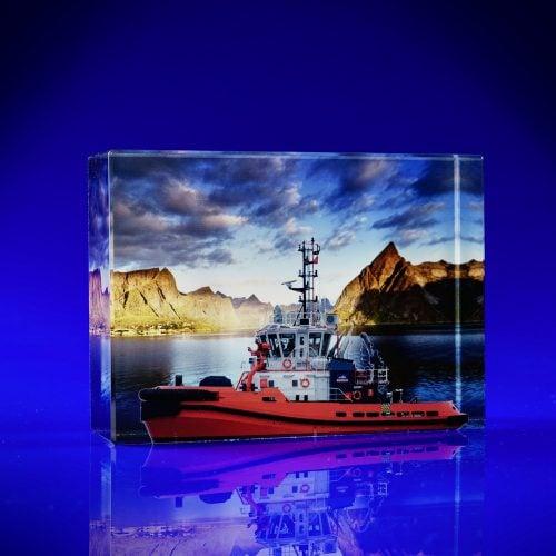 Colour print awards -Venice -Tug Boat Crystal