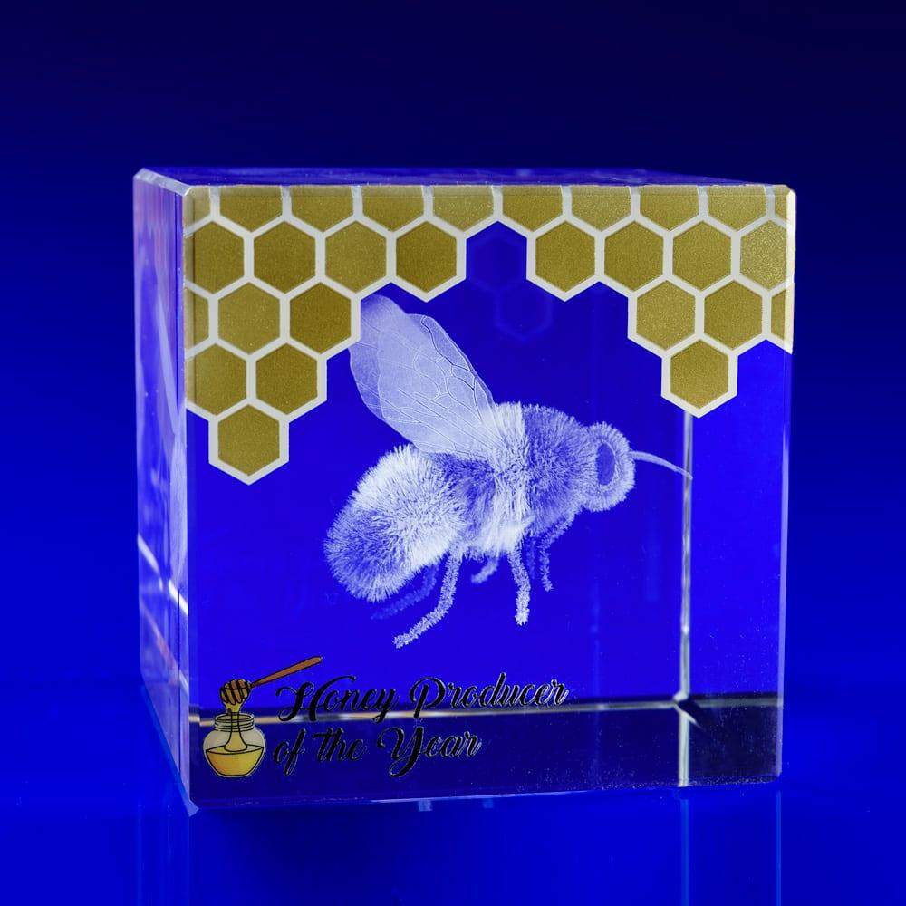metallic print and bee